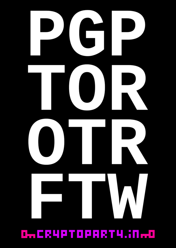 Sticker: PGP TOR OTR FTW