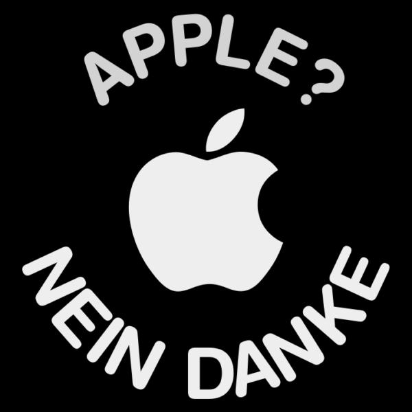 Sticker: Apple? Nein Danke