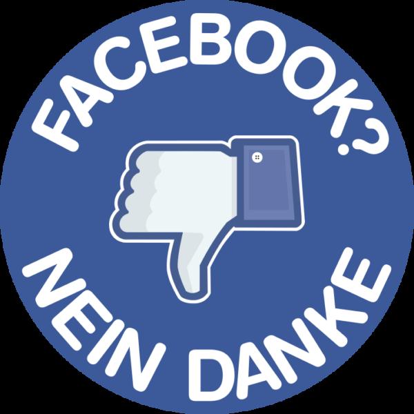 Sticker: Facebook? Nein Danke