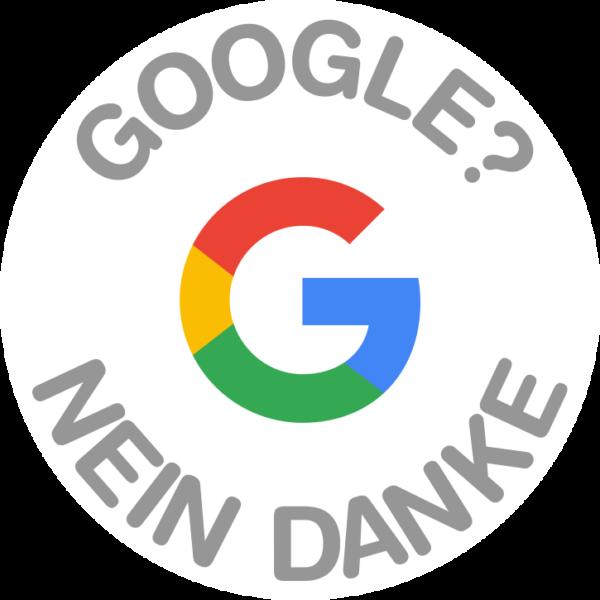 Sticker: Google? Nein Danke