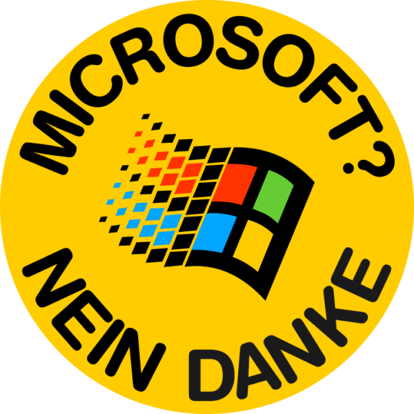 Sticker: Microsoft? Nein Danke